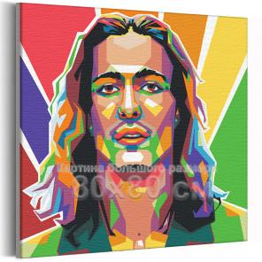 Maneskin / Damiano David арт 80х80 см Раскраска картина по номерам на холсте AAAA-RS096-80x80