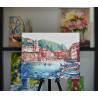 Пример оформления готовой работы Кафе у моря Картина по номерам на холсте Color Kit CG2009