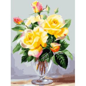 Чайные розы Раскраска картина по номерам Color Kit CE248