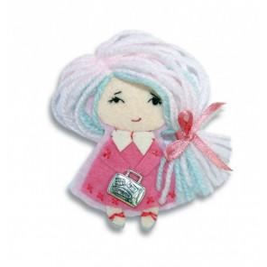 Девочка Брошка Набор для создания игрушки своими руками Перловка ПБР-1008
