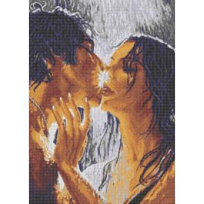 Влюбленные Габардин с рисунком для вышивки бисером Каролинка ТКБЛ 2011