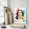Maneskin / Damiano David арт 80х100 см Раскраска картина по номерам на холсте с неоновами красками AAAA-RS249-80x100
