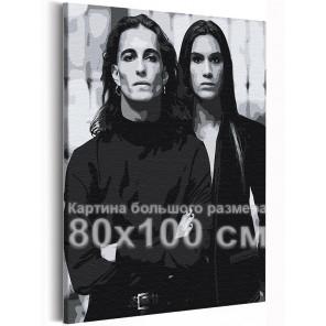 Манескин / Damiano и Ethan 80х100 см Раскраска картина по номерам на холсте AAAA-RS250-80x100