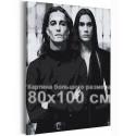 Манескин / Damiano и Ethan 80х100 см Раскраска картина по номерам на холсте