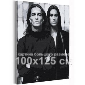 Манескин / Damiano и Ethan 100х125 см Раскраска картина по номерам на холсте AAAA-RS250-100x125