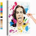 Maneskin / Damiano David арт Раскраска картина по номерам на холсте с неоновами красками