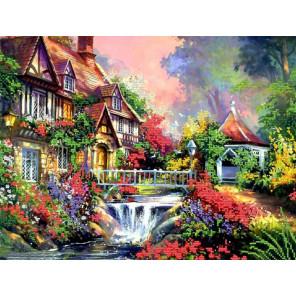 Дом Ткань с рисунком для вышивания бисером Конек 9620