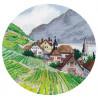 Миниатюра. Альпы Набор для вышивания Овен 1286