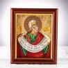 Пример готовой работы Пророк Наум Набор для вышивания бисером Кроше В-358