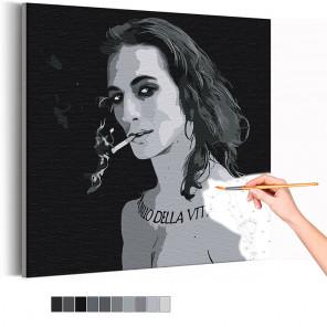 Maneskin / Damiano David черно-белый Раскраска картина по номерам на холсте AAAA-RS098