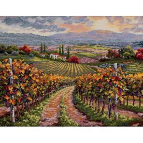 Виноградники Тосканы Набор для вышивания Merejka K-164