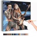 Maneskin / Дамиано и Виктория Раскраска картина по номерам на холсте