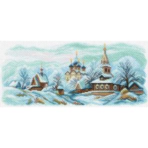 Зимний Суздаль Канва с рисунком для вышивки крестом Матренин посад 1625