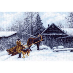 Зима Канва с рисунком для вышивки крестом Матренин посад 1199