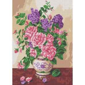 Запах роз Канва с рисунком для вышивки бисером Каролинка ТКБЦ 3047