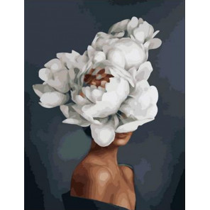Девушка-Цветок. Благородство Раскраска картина по номерам на холсте PK11413