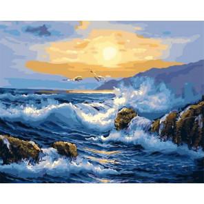 Узор волны Раскраска картина по номерам на холсте PK11412