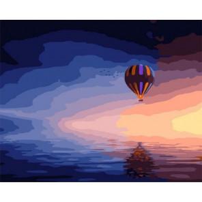 Воздушный шар над морем Раскраска картина по номерам на холсте PK11424
