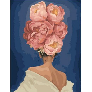 Девушка цветок. Изгиб Раскраска картина по номерам на холсте PK11444