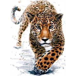 Поступь леопарда Раскраска картина по номерам на холсте PK11452