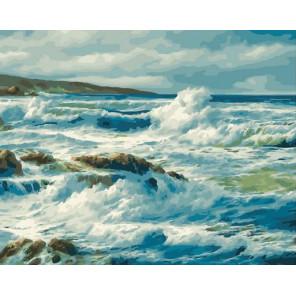 Холодное море Раскраска картина по номерам на холсте PK11455