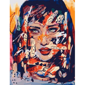 Яркая девушка Раскраска картина по номерам на холсте PK11465