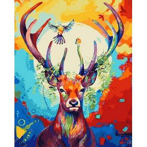 Благородный олень Раскраска картина по номерам на холсте GX40116