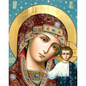 Икона Казанская Пресвятая БогородицаРаскраска картина по номерам на холсте MG2426