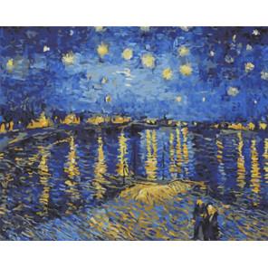 Звездная ночь над Роной Ван Гог Раскраска картина по номерам на холсте Color Kit CG2040