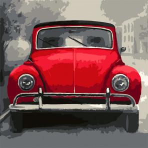 Автомобиль Раскраска картина по номерам на холсте Color Kit CF123