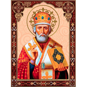 Святой Николай Чудотворец Алмазная вышивка мозаика Алмазное хобби AH5525