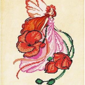 Маковка Ткань с рисунком для вышивки бисером Божья коровка 0154