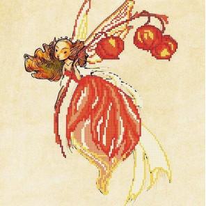 Физалис Ткань с рисунком для вышивки бисером Божья коровка 0155