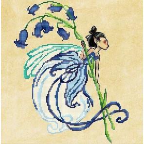 Колокольчик Ткань с рисунком для вышивки бисером Божья коровка 0156