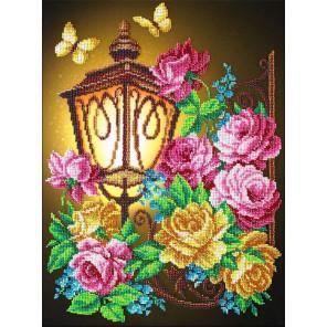 Фонарик и розы Набор для вышивания бисером Паутинка Б-1294