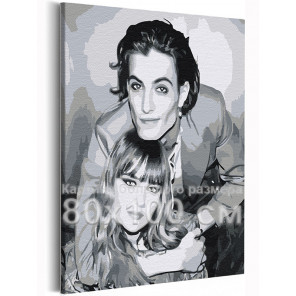 Maneskin / Виктория и Дамиано 80х100 см Раскраска картина по номерам на холсте AAAA-RS251-80x100