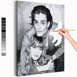 Maneskin / Виктория и Дамиано Раскраска картина по номерам на холсте AAAA-RS251