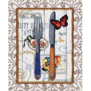 Стильная кухня. Вилка и нож Набор для вышивания бисером Золотое Руно РТ-093