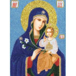 Образ Божией Матери Неувядаемый цвет Набор для вышивания бисером Золотое Руно РТ-046