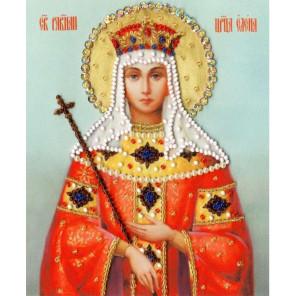 Икона Святой Равноапостольной Царицы Елены Набор для вышивания бисером Золотое Руно РТ-125