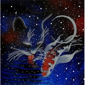 Космическая фантазия Ткань с рисунком для вышивки бисером Конек 8493