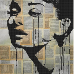 Одри Хепберн Ткань с рисунком для вышивки бисером Божья коровка 0127