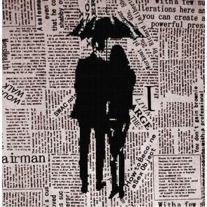 Под зонтом Ткань с рисунком для вышивки бисером Божья коровка 0130