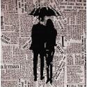 Под зонтом Ткань с рисунком для вышивки бисером Божья коровка