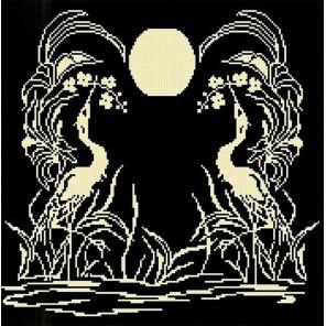 Закат 2 Ткань с рисунком для вышивки бисером Божья коровка 0132