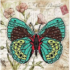 Бабочка 5 Ткань с рисунком для вышивки бисером Божья коровка 0145