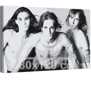 Maneskin / Дамиано, Итан и Томас черно-белая 80х120 см Раскраска картина по номерам на холсте AAAA-RS200-80x120