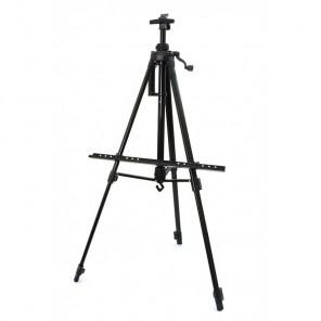 Чёрный Мольберт телескопический тренога с перекладиной Белоснежка 76-BS