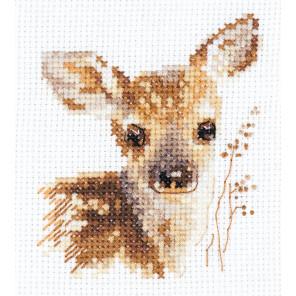 Животные в портретах. Олененок Набор для вышивания Алиса 0-195