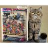 Пример готовой работы Кошки делают то, что хотят Набор для вышивания MEREJKA K-196